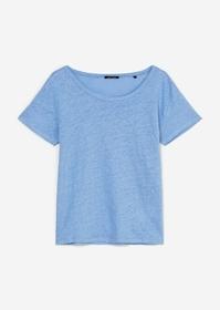 T-Shirt aus Leinen-Slub-Jersey