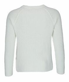 Bio-Baumwoll-Sweatshirt mit V-Ausschnitt