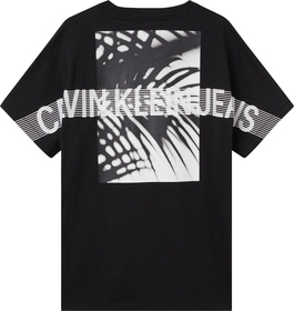 T-Shirt mit Palmen-Print aus Bio-Baumwolle