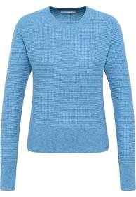 Regular-Fit Pullover mit Struktur-Mix